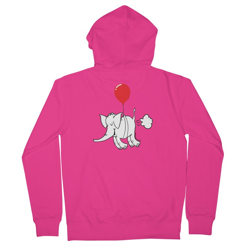 Cy & The Red Balloon Men's French Terry Zip-Up Hoody by Cy The Elephart's phArtist Shop