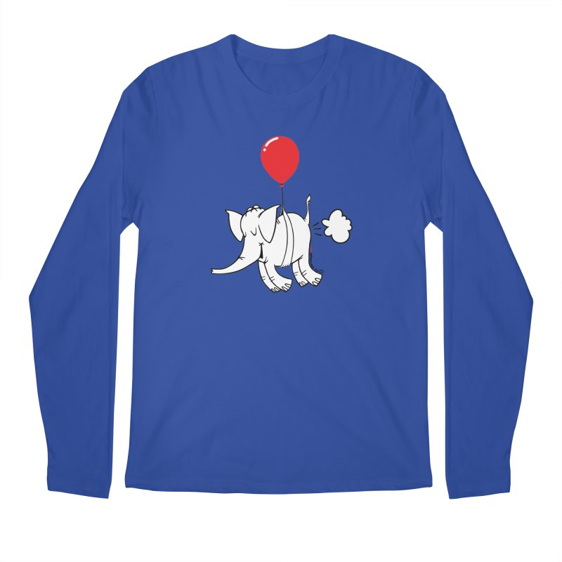 Cy & The Red Balloon Men's Regular Longsleeve T-Shirt by Cy The Elephart's phArtist Shop