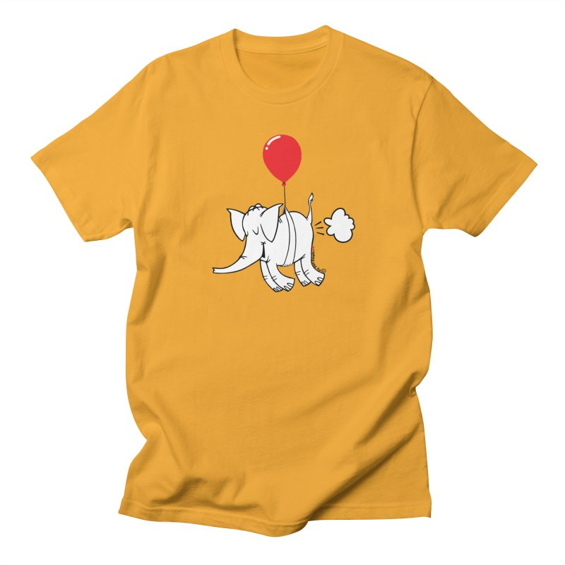 Cy & The Red Balloon Women's Regular Unisex T-Shirt by Cy The Elephart's phArtist Shop