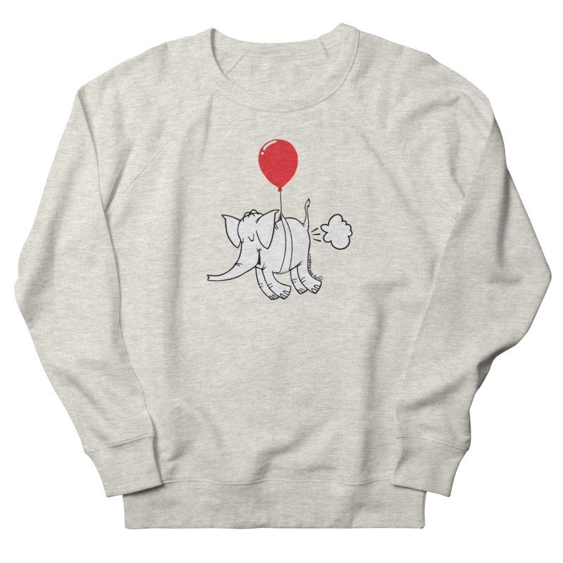 Cy & The Red Balloon Women's French Terry Sweatshirt by Cy The Elephart's phArtist Shop