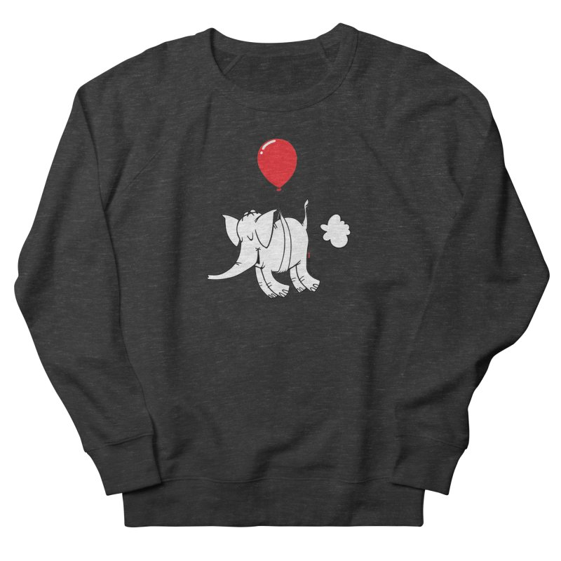 Cy & The Red Balloon Men's French Terry Sweatshirt by Cy The Elephart's phArtist Shop