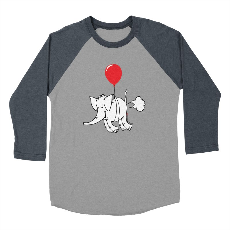 Cy & The Red Balloon Men's Baseball Triblend Longsleeve T-Shirt by Cy The Elephart's phArtist Shop