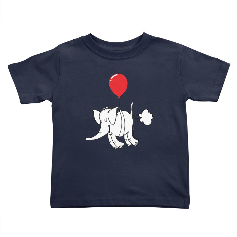 Cy & The Red Balloon Kids Toddler T-Shirt by Cy The Elephart's phArtist Shop