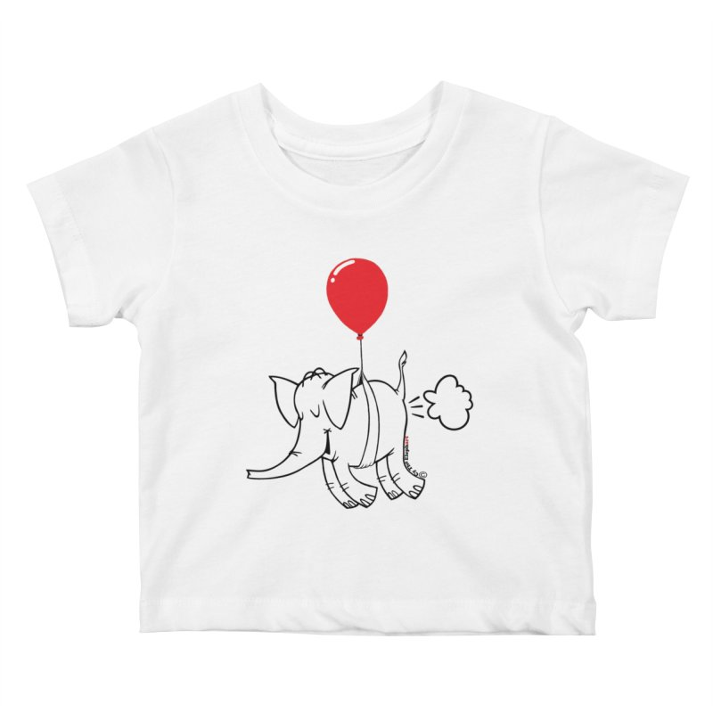 Cy & The Red Balloon Kids Baby T-Shirt by Cy The Elephart's phArtist Shop