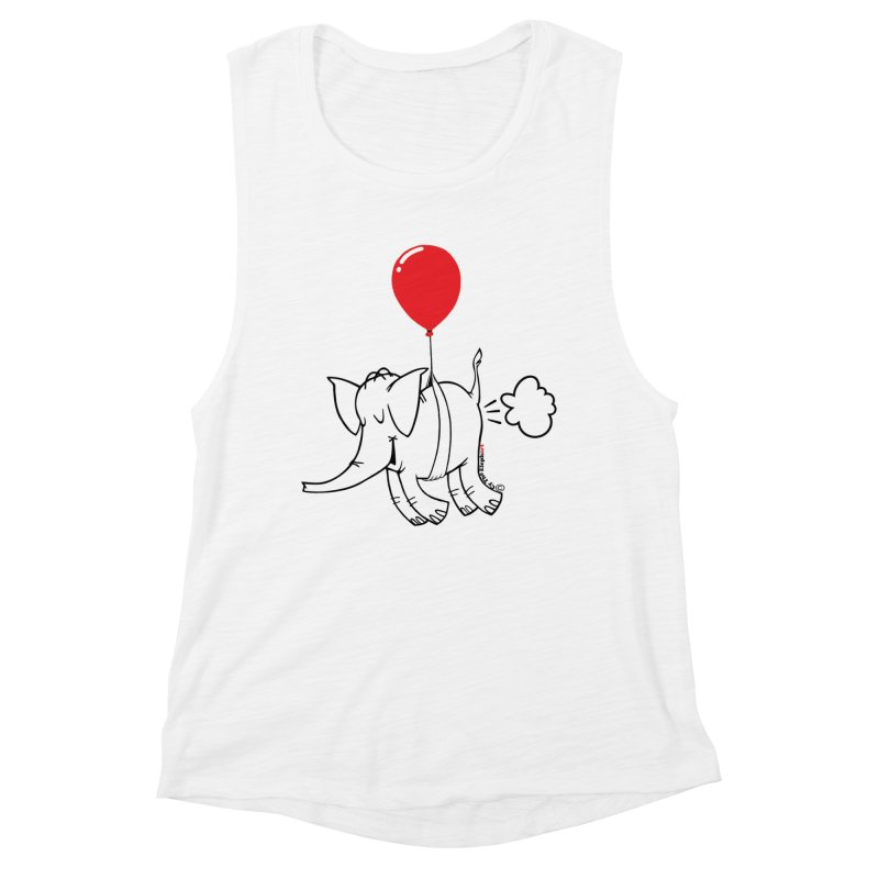 Cy & The Red Balloon Women's Tank by Cy The Elephart's phArtist Shop