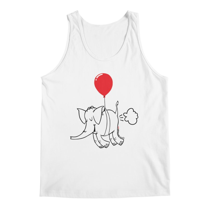 Cy & The Red Balloon Men's Regular Tank by Cy The Elephart's phArtist Shop