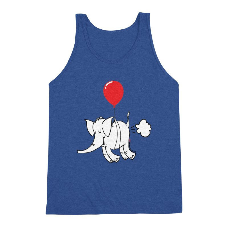 Cy & The Red Balloon Men's Triblend Tank by Cy The Elephart's phArtist Shop