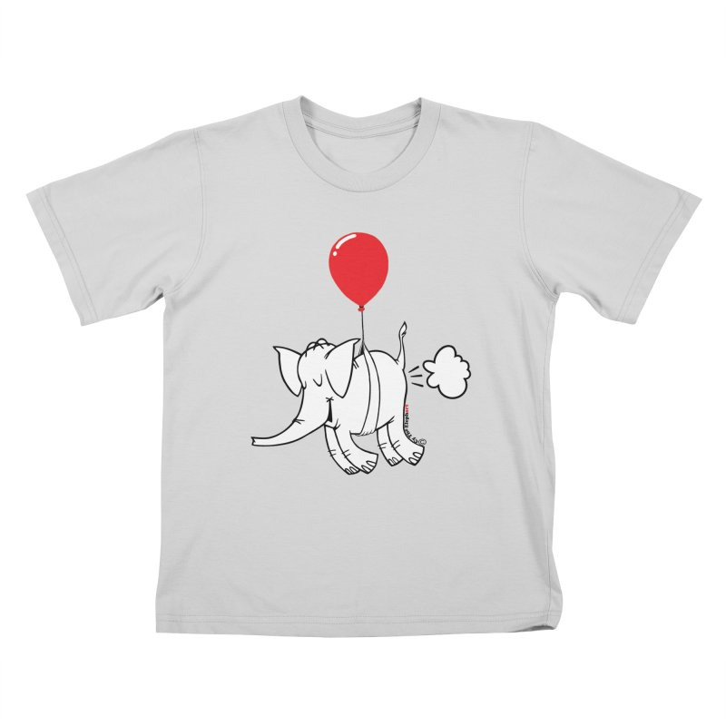 Cy & The Red Balloon Kids T-Shirt by Cy The Elephart's phArtist Shop