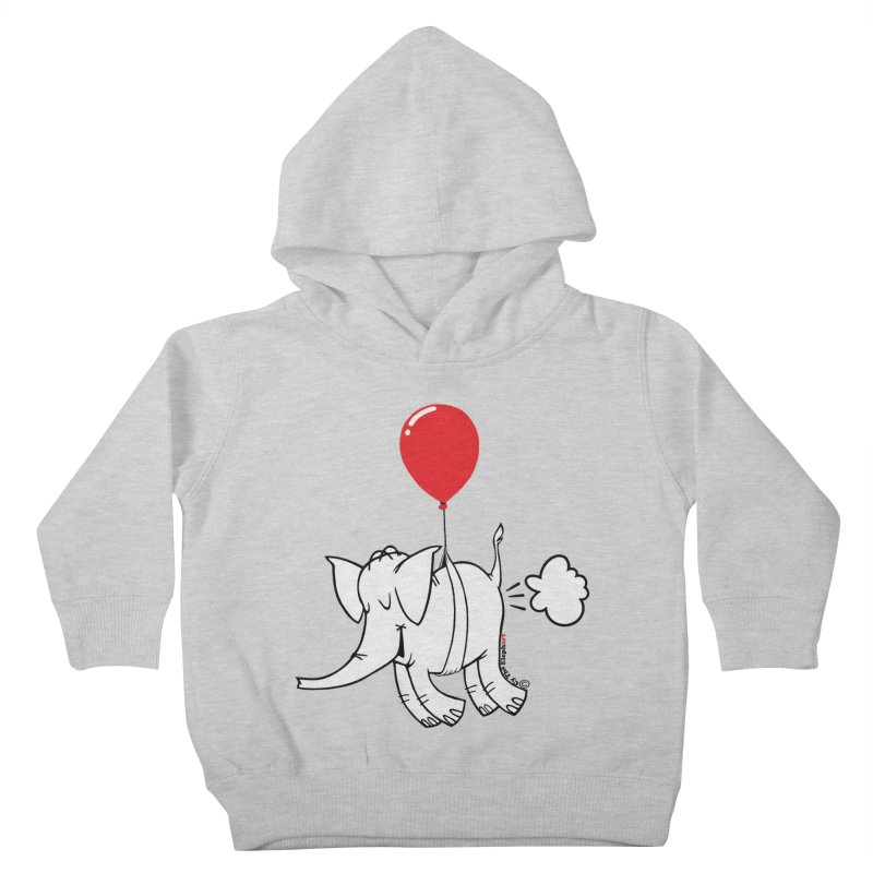 Cy & The Red Balloon Kids Toddler Pullover Hoody by Cy The Elephart's phArtist Shop