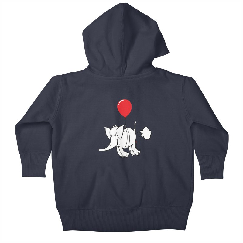 Cy & The Red Balloon Kids Baby Zip-Up Hoody by Cy The Elephart's phArtist Shop