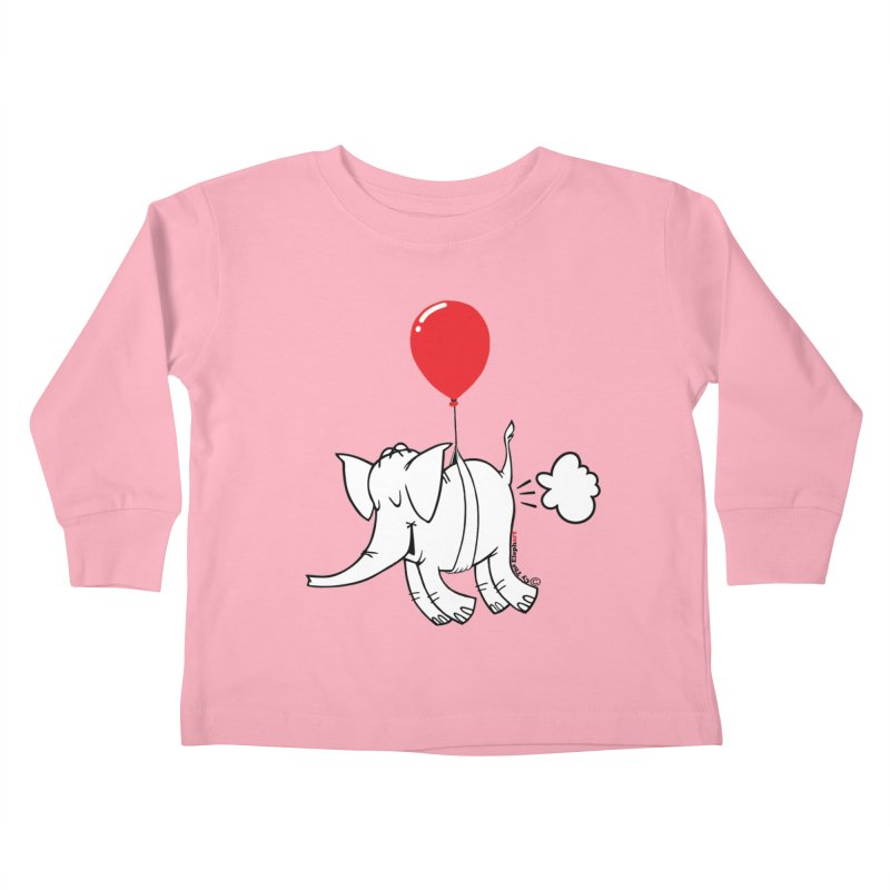 Cy & The Red Balloon Kids Toddler Longsleeve T-Shirt by Cy The Elephart's phArtist Shop
