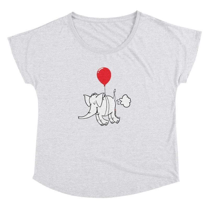 Cy & The Red Balloon Women's Dolman Scoop Neck by Cy The Elephart's phArtist Shop