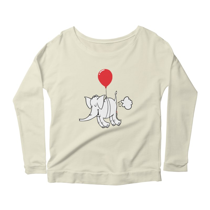 Cy & The Red Balloon Women's Scoop Neck Longsleeve T-Shirt by Cy The Elephart's phArtist Shop
