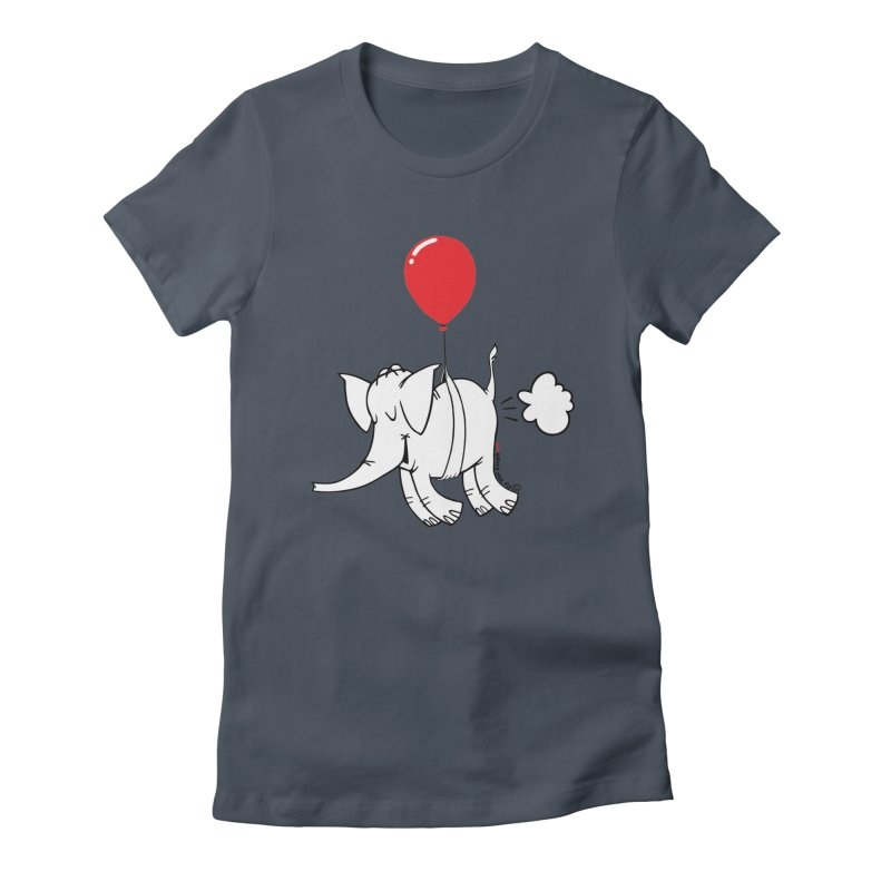 Cy & The Red Balloon Women's T-Shirt by Cy The Elephart's phArtist Shop