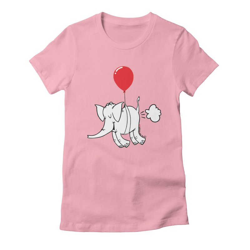 Cy & The Red Balloon Women's Fitted T-Shirt by Cy The Elephart's phArtist Shop