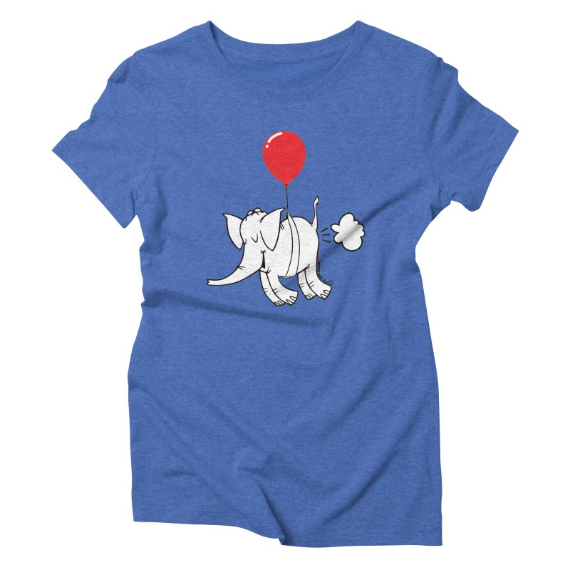Cy & The Red Balloon Women's Triblend T-Shirt by Cy The Elephart's phArtist Shop