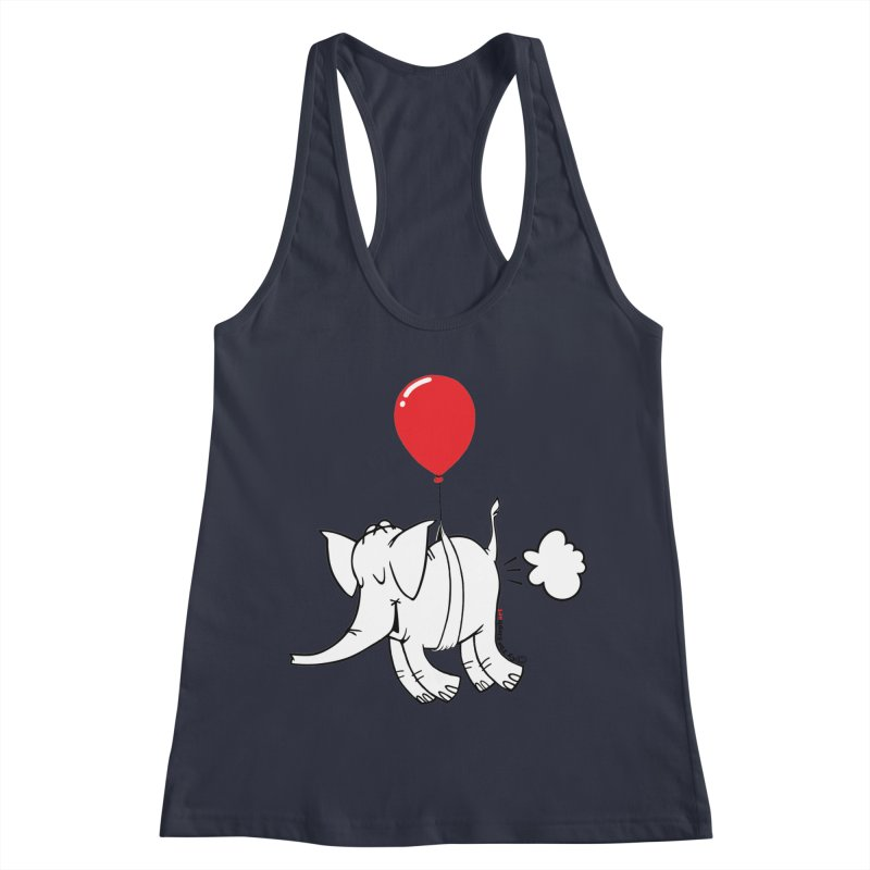 Cy & The Red Balloon Women's Racerback Tank by Cy The Elephart's phArtist Shop
