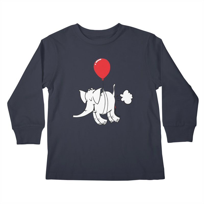 Cy & The Red Balloon Kids Longsleeve T-Shirt by Cy The Elephart's phArtist Shop