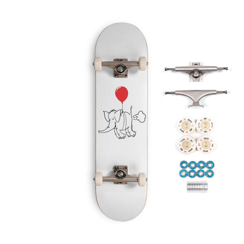 Cy & The Red Balloon Accessories Complete - Premium Skateboard by Cy The Elephart's phArtist Shop