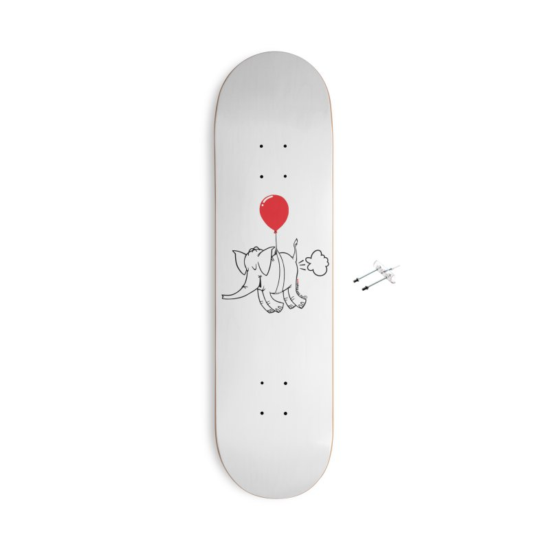 Cy & The Red Balloon Accessories With Hanging Hardware Skateboard by Cy The Elephart's phArtist Shop