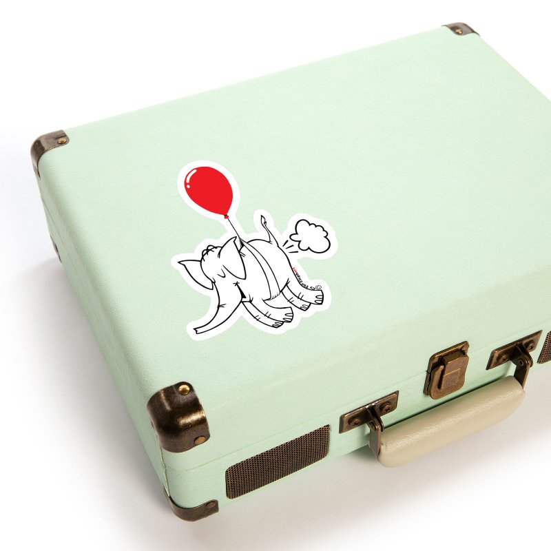 Cy & The Red Balloon Accessories Sticker by Cy The Elephart's phArtist Shop