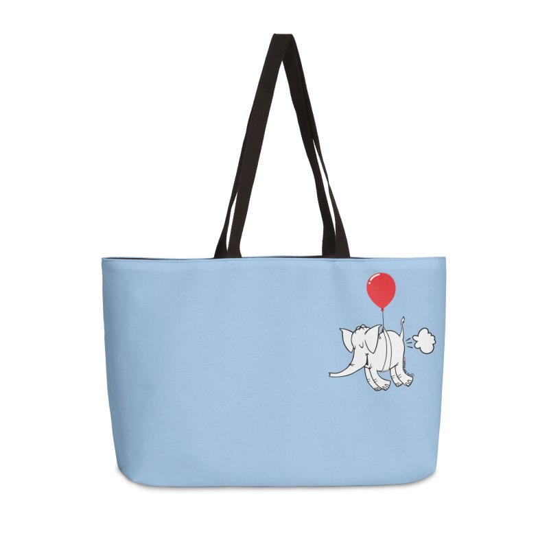 Cy & The Red Balloon Accessories Weekender Bag Bag by Cy The Elephart's phArtist Shop