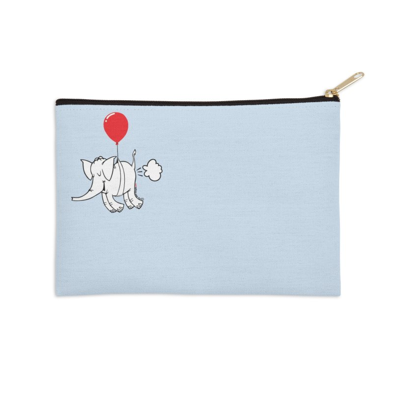 Cy & The Red Balloon Accessories Zip Pouch by Cy The Elephart's phArtist Shop