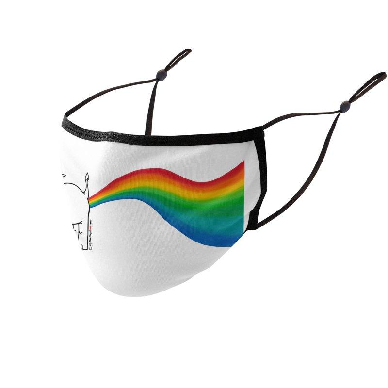 Unicorn Rainbow Lovin' Cy Accessories Face Mask by Cy The Elephart's phArtist Shop