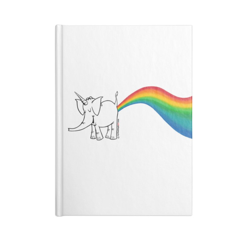 Unicorn Rainbow Lovin' Cy Accessories Lined Journal Notebook by Cy The Elephart's phArtist Shop