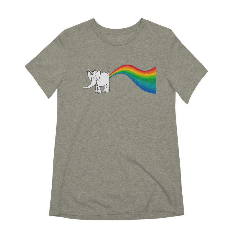 Unicorn Rainbow Lovin' Cy Women's Extra Soft T-Shirt by Cy The Elephart's phArtist Shop