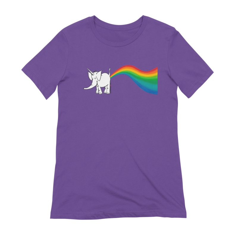 Unicorn Rainbow Lovin' Cy Women's Extra Soft T-Shirt by Cy The Elephart's phArtist Shop