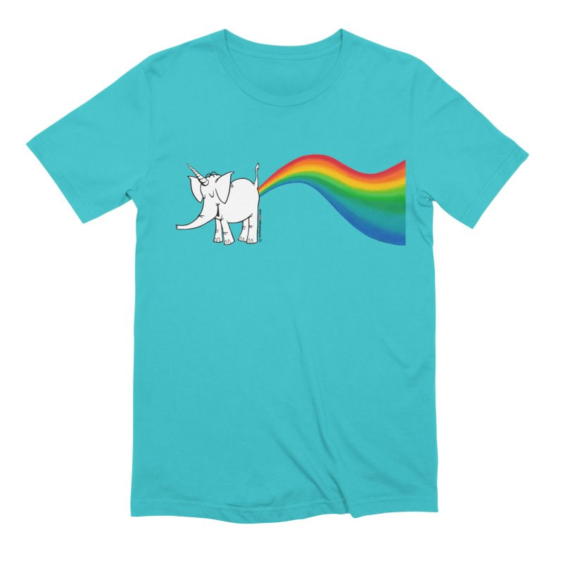 Unicorn Rainbow Lovin' Cy Men's T-Shirt by Cy The Elephart's phArtist Shop