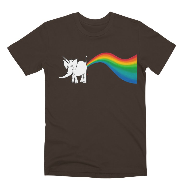 Unicorn Rainbow Lovin' Cy Men's Premium T-Shirt by Cy The Elephart's phArtist Shop