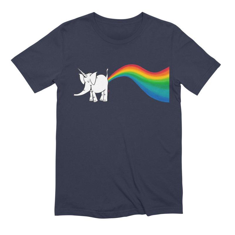 Unicorn Rainbow Lovin' Cy Men's Extra Soft T-Shirt by Cy The Elephart's phArtist Shop