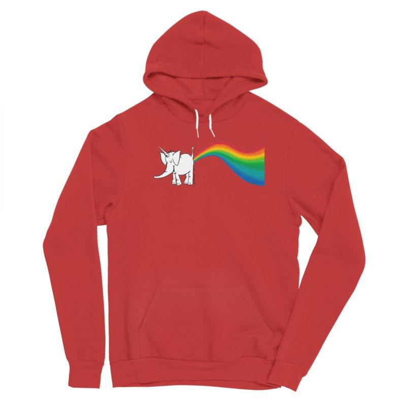 Unicorn Rainbow Lovin' Cy Men's Pullover Hoody by Cy The Elephart's phArtist Shop