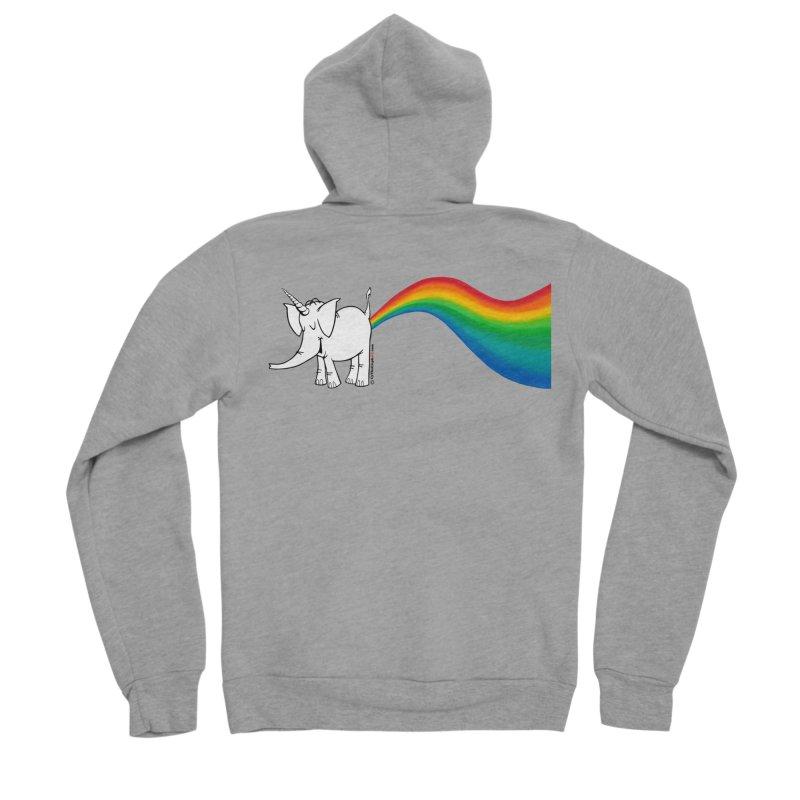 Unicorn Rainbow Lovin' Cy Women's Sponge Fleece Zip-Up Hoody by Cy The Elephart's phArtist Shop