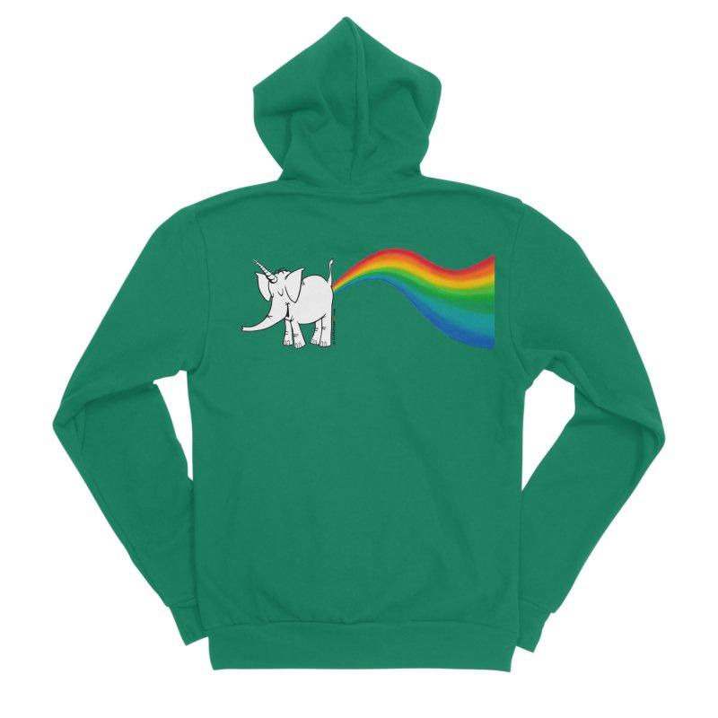 Unicorn Rainbow Lovin' Cy Men's Sponge Fleece Zip-Up Hoody by Cy The Elephart's phArtist Shop
