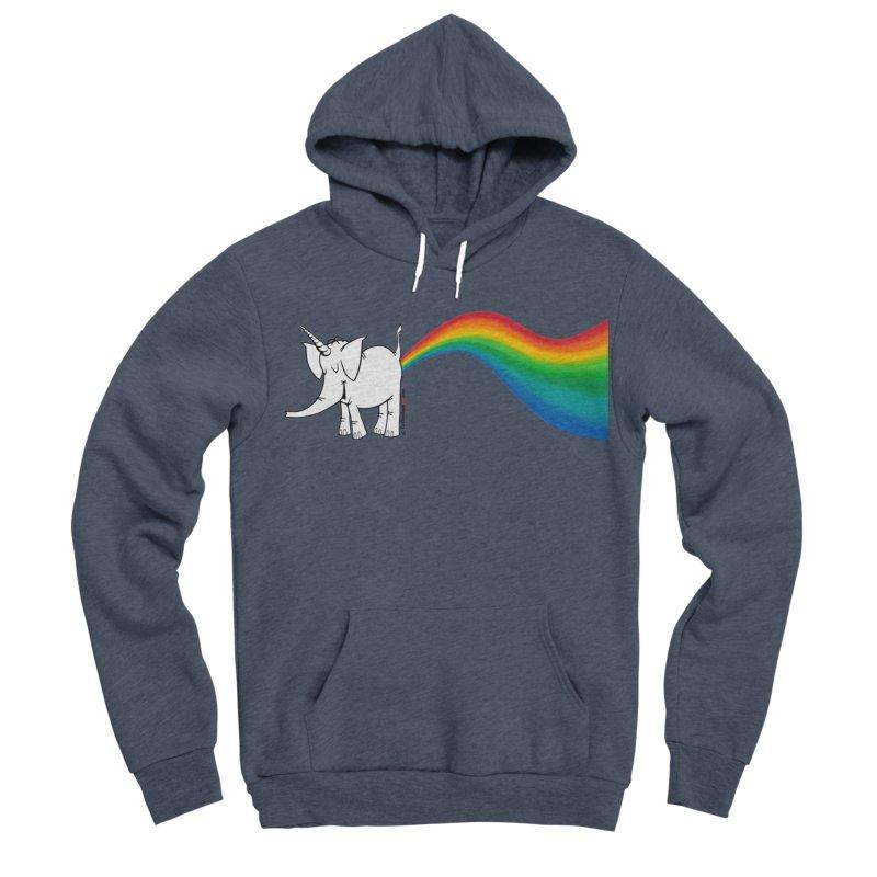 Unicorn Rainbow Lovin' Cy Women's Sponge Fleece Pullover Hoody by Cy The Elephart's phArtist Shop