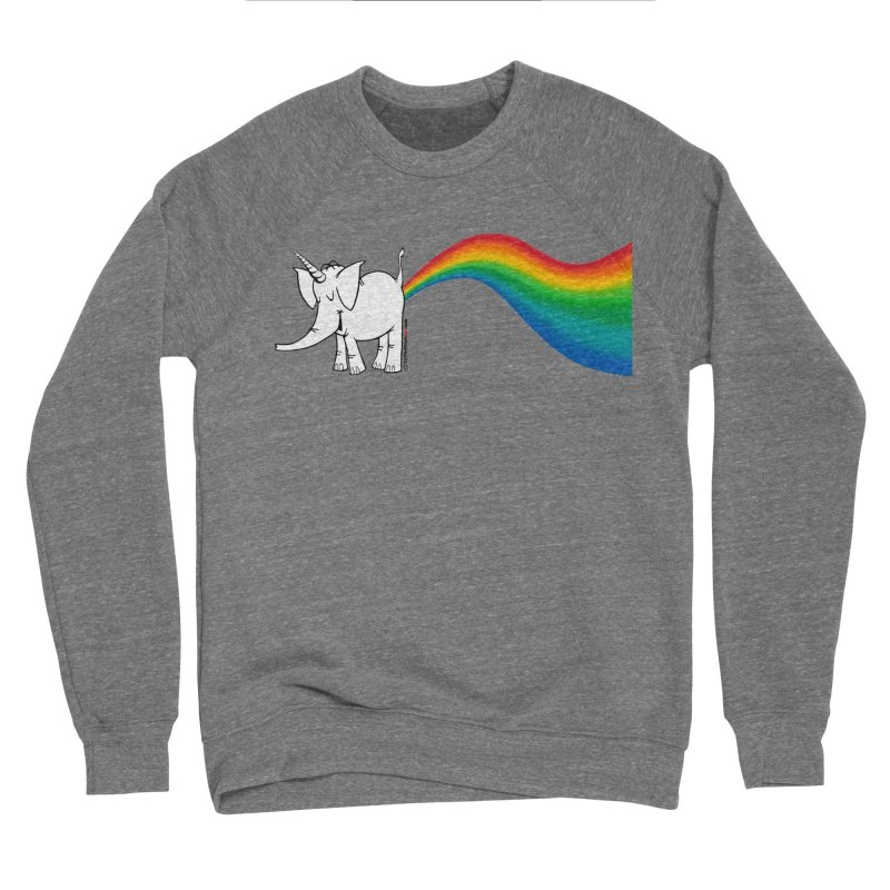 Unicorn Rainbow Lovin' Cy Men's Sponge Fleece Sweatshirt by Cy The Elephart's phArtist Shop
