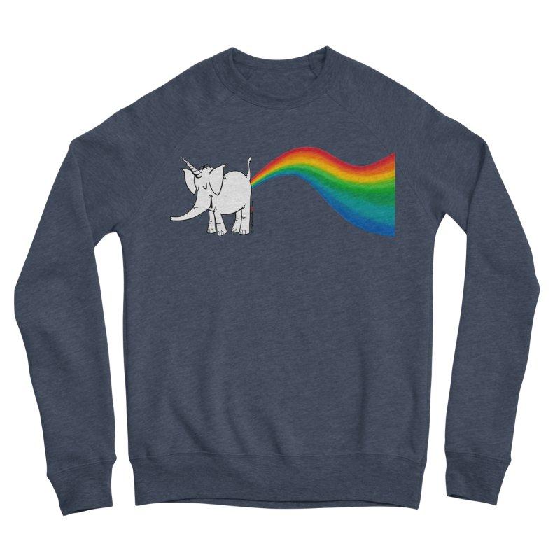 Unicorn Rainbow Lovin' Cy Men's Sponge Fleece Sweatshirt by Cy The Elephart's phArtist Shop