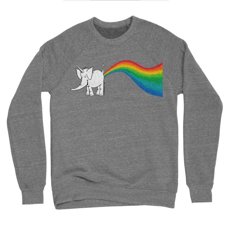 Unicorn Rainbow Lovin' Cy Women's Sweatshirt by Cy The Elephart's phArtist Shop