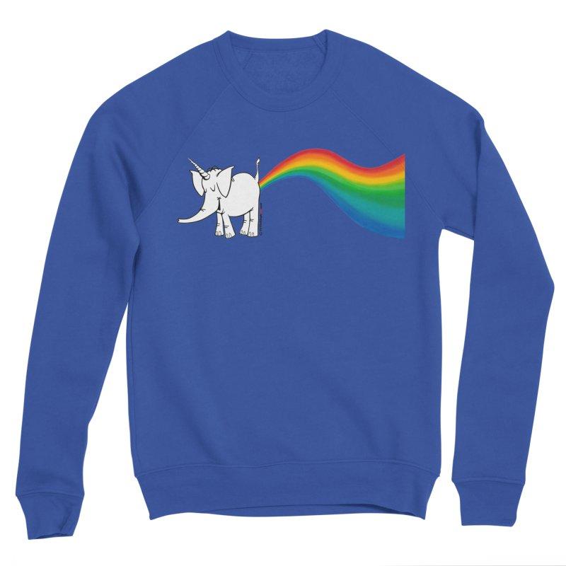 Unicorn Rainbow Lovin' Cy Men's Sweatshirt by Cy The Elephart's phArtist Shop