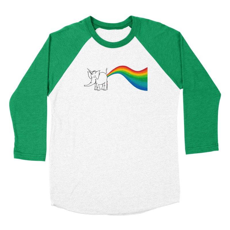 Unicorn Rainbow Lovin' Cy Men's Baseball Triblend Longsleeve T-Shirt by Cy The Elephart's phArtist Shop