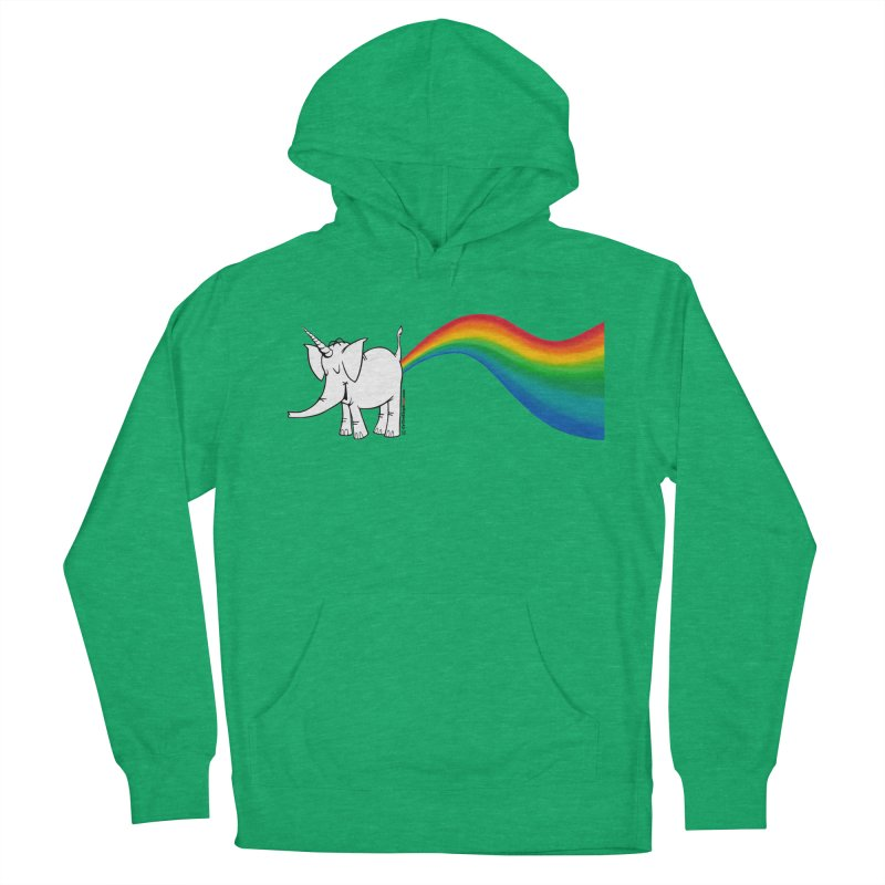 Unicorn Rainbow Lovin' Cy Men's French Terry Pullover Hoody by Cy The Elephart's phArtist Shop