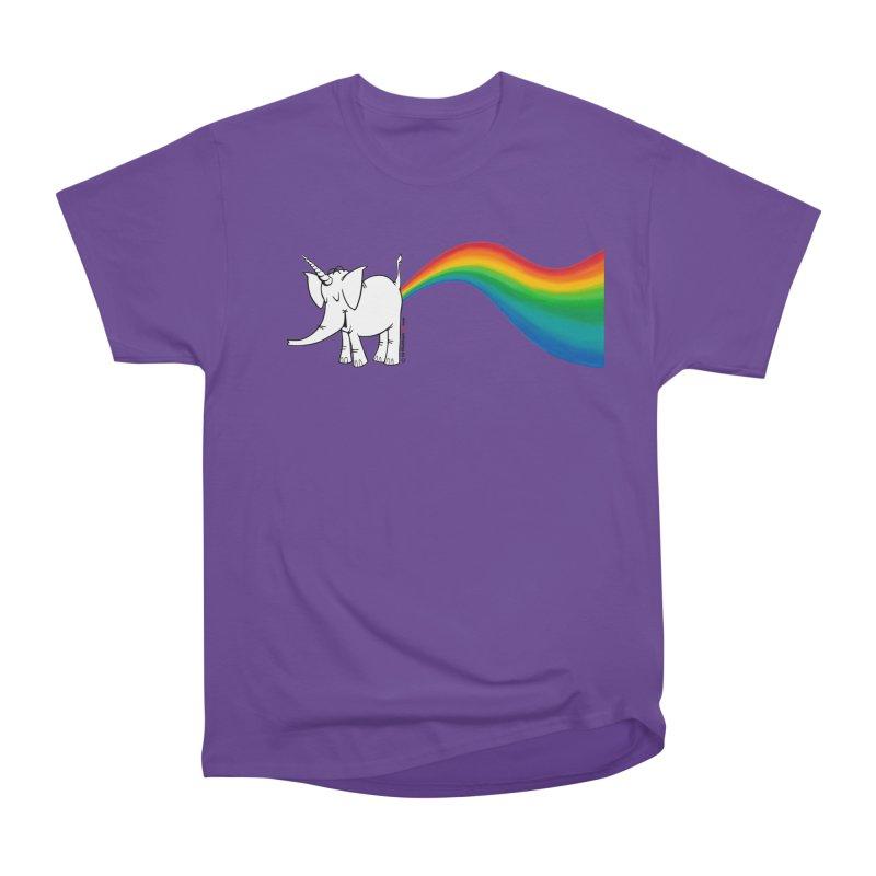 Unicorn Rainbow Lovin' Cy Women's Heavyweight Unisex T-Shirt by Cy The Elephart's phArtist Shop