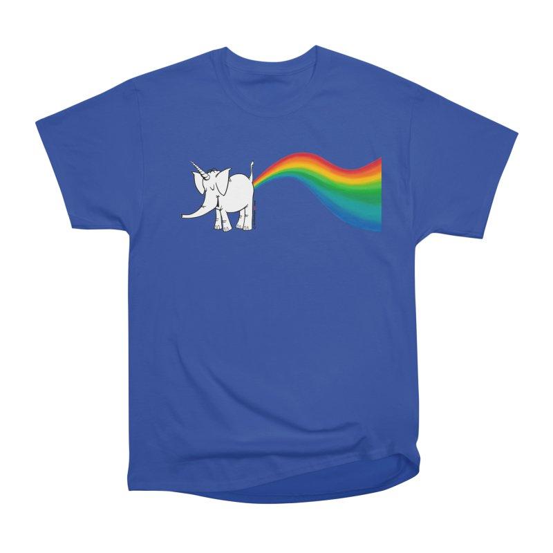 Unicorn Rainbow Lovin' Cy Men's T-Shirt by Cy The Elephart's phArtist Shop