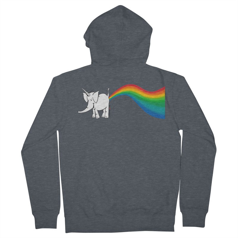 Unicorn Rainbow Lovin' Cy Women's French Terry Zip-Up Hoody by Cy The Elephart's phArtist Shop