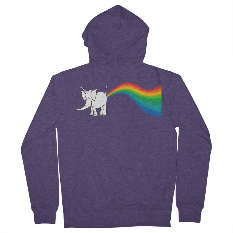 Unicorn Rainbow Lovin' Cy Men's French Terry Zip-Up Hoody by Cy The Elephart's phArtist Shop