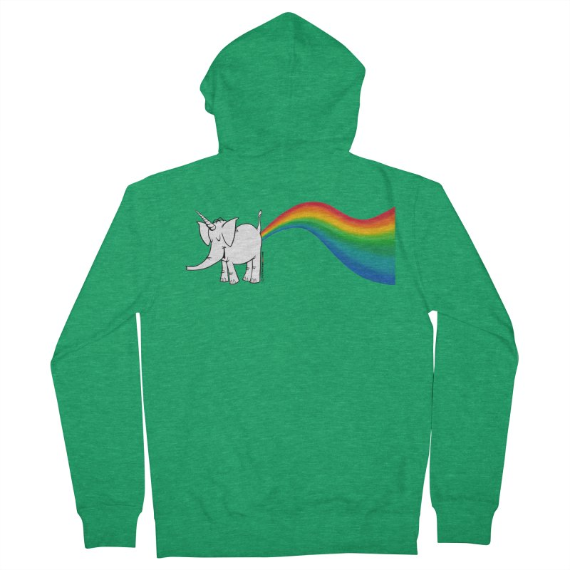 Unicorn Rainbow Lovin' Cy Men's French Terry Zip-Up Hoody by Cy The Elephart's phArtist Shop