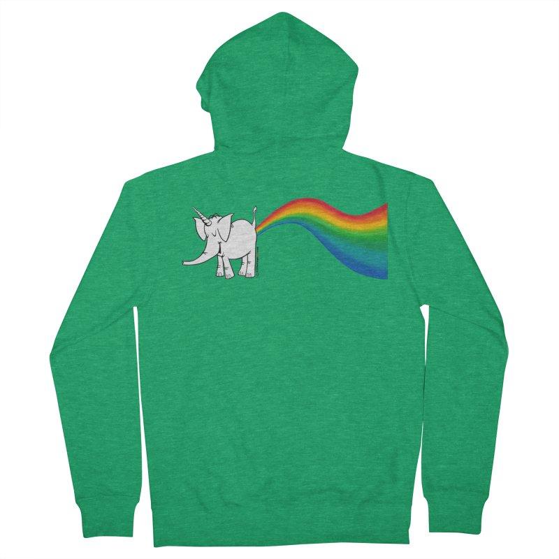 Unicorn Rainbow Lovin' Cy Men's Zip-Up Hoody by Cy The Elephart's phArtist Shop